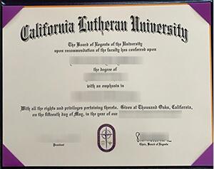 Cal Lutheran degree and transcript, Copy a Cal Lu diploma