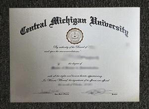 The Central Michigan University diploma sample, Buy CMU fake degree