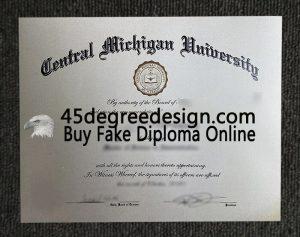 Central Michigan University diploma
