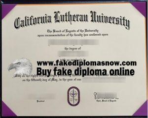 California Lutheran University diploma
