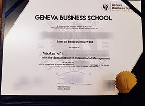 Geneva Business School diploma, fake Geneva Business School degree