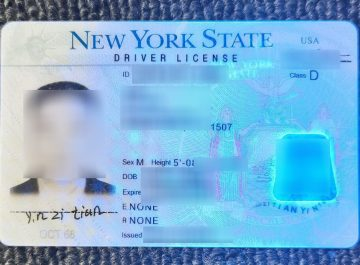 Purchase a fake and scannable NY State Driver's License in the USA