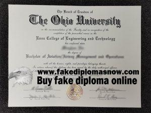 The Ohio University diploma, The Ohio University degree