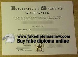 UW–Whitewater diploma, UW–Whitewater degree
