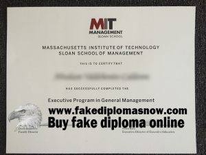 MIT Sloan School of Management diploma