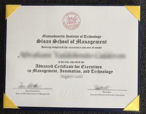 MIT Sloan School of Management certificate