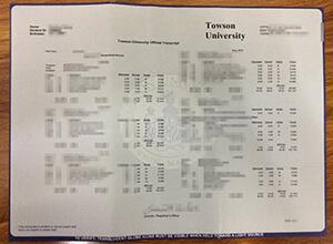 TU transcript, Towson University transcript