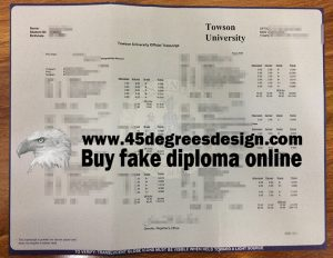 Towson University transcript