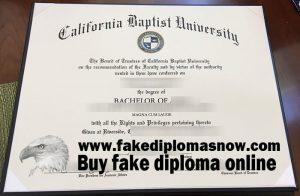 California Baptist University diploma