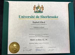 Fake Université de Sherbrooke diplomas that look real