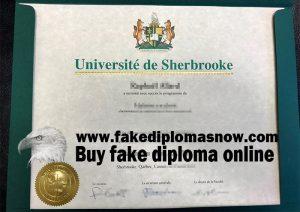 Université de Sherbrooke diploma, Université de Sherbrooke degree