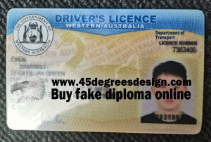 Western Australia Driver's License