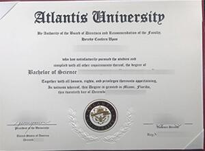 Buy fake Atlantis University Diploma online