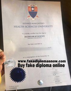 Sefako Makgatho Health Sciences University (SMU) degree