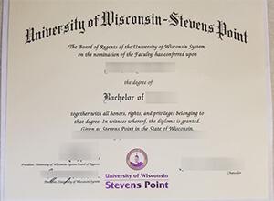 fake UWSP diploma, Fake USA diploma