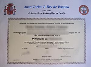 Universidad de Sevilla diploma, Universidad de Sevilla fake degree