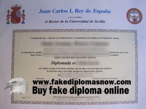 Fake Universidad De Sevilla Diploma, Fake Universidad De Sevilla degree