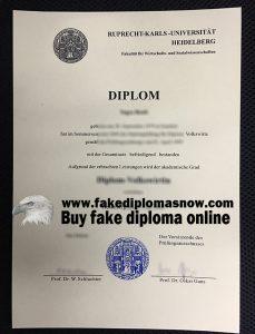 Ruprecht-Karls-Universität Heidelberg diploma, Heidelberg University fake degree