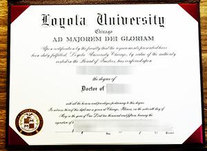 Phony Loyola University Chicago diploma, fake Loyola degree, LUC diploma,