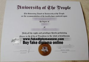 fake University of the People diploma, University of the People degree