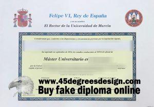 Fake Universidad de Murcia (UM) Diploma, Fake Universidad de Murcia (UM) Degree