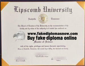 Lipscomb University fake diploma, Lipscomb University fake degree