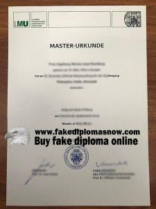 LMU Munich Fake Diploma in Germany, Ludwig-Maximilians-Universität München Urkunde