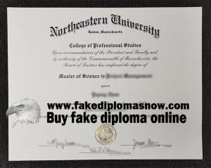 fake Northeastern University master's degree, Northeastern University diploma