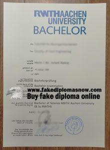 RWTH Aachen University diploma, RWTH Aachen University fake degree
