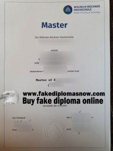 Wilhelm Büchner Hochschule diploma, Wilhelm Büchner Hochschule fake degree