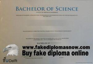 Delft University of Technology fake diploma TU Delft fake degree, Technische Universiteit Delft certificate