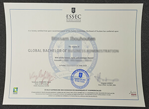 fake ESSEC Business School diploma