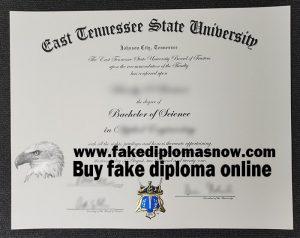 East Tennessee State University fake diploma, phony ETSU degree