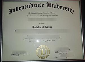 Independence University degree, Independence University diploma