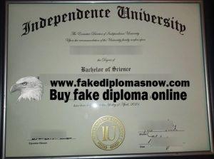 Independence University fake degree, buy diploma online