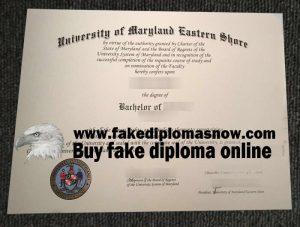 University of Maryland Eastern Shore fake diploma, UMES fake degree