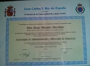 fake Universidad Rey Juan Carlos diploma, URJC fake degree